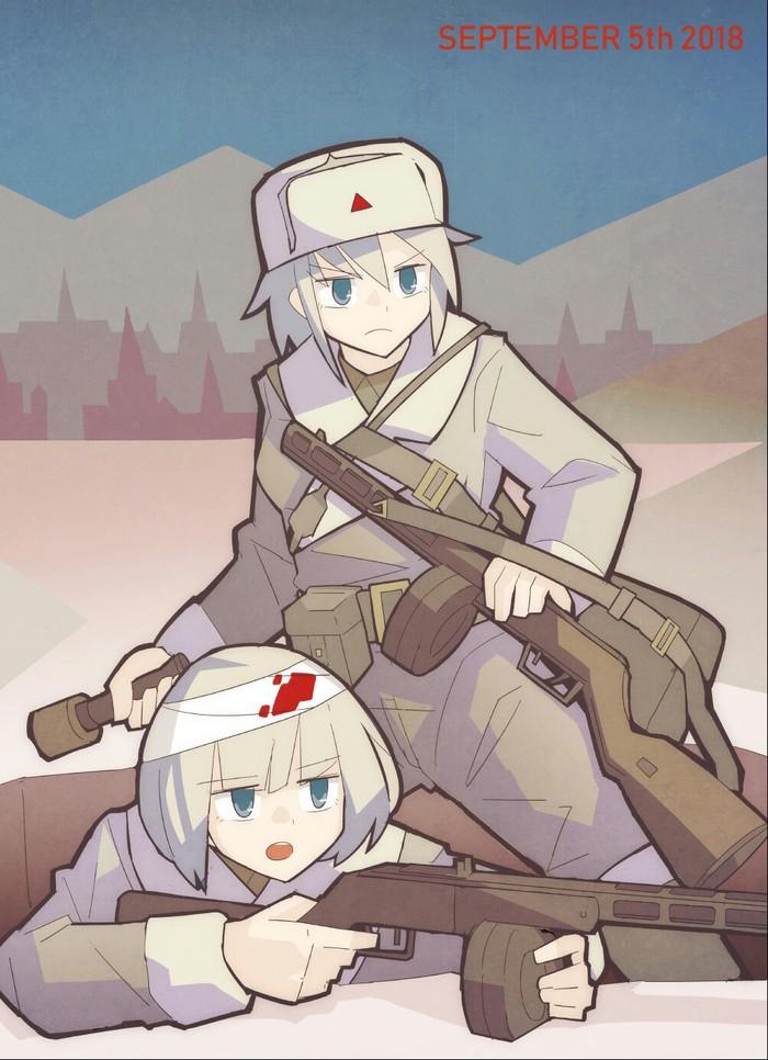Красноармейцы