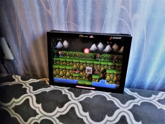 Диорама по Contra NES Contra, Игровая приставка денди, Диорама, Рукодельники, Своими руками, Длиннопост, Nes