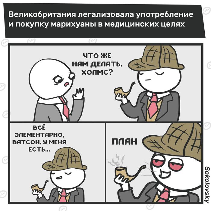 Конкуренция традиционному чаепитию Великобритания, Марихуана, Наркотики, Не пропаганда, Новости, Комиксы, Sokolovsky!
