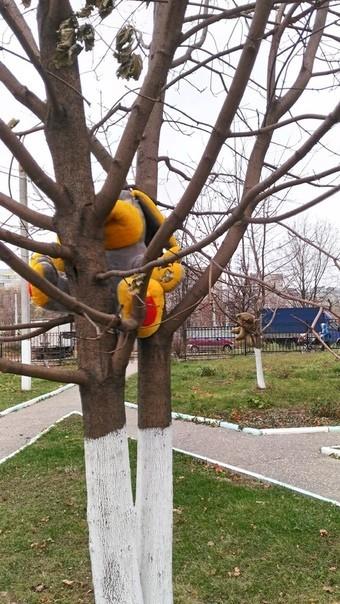 Дерево, мишка и заяц Игрушки, Дерево, Крипота, Владимир