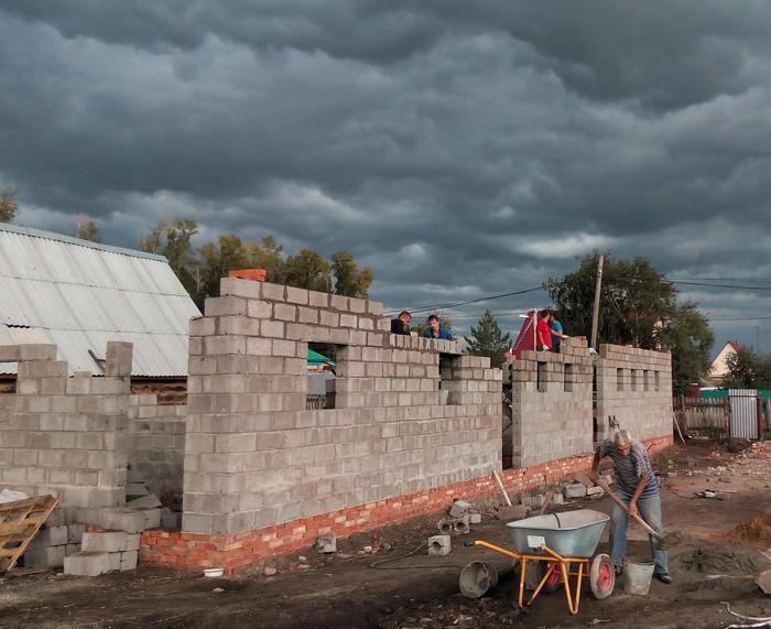 Спектакль строителей Строительство, Гараж, Длиннопост
