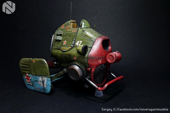 Красная Звезда-47 Стендовый моделизм, Фэнтези, Дизельпанк, Атомпанк, Масштабная модель, Масштаб 1:35, Длиннопост