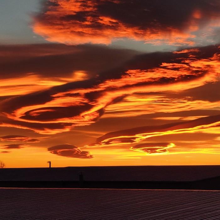 А тут нечто Облака перистые, Мир, Длиннопост, Закат, Фотография