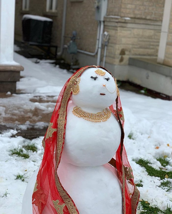 Была я баба нежная, а стала баба снежная Снежная баба, Индия, Канада, Наряд, Длиннопост