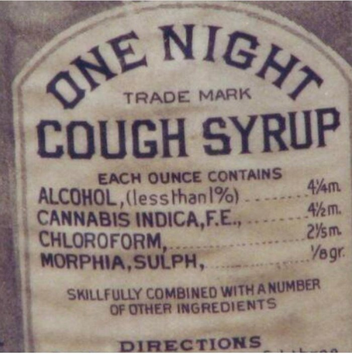 Это был 1888 год и мы лечили этим кашель