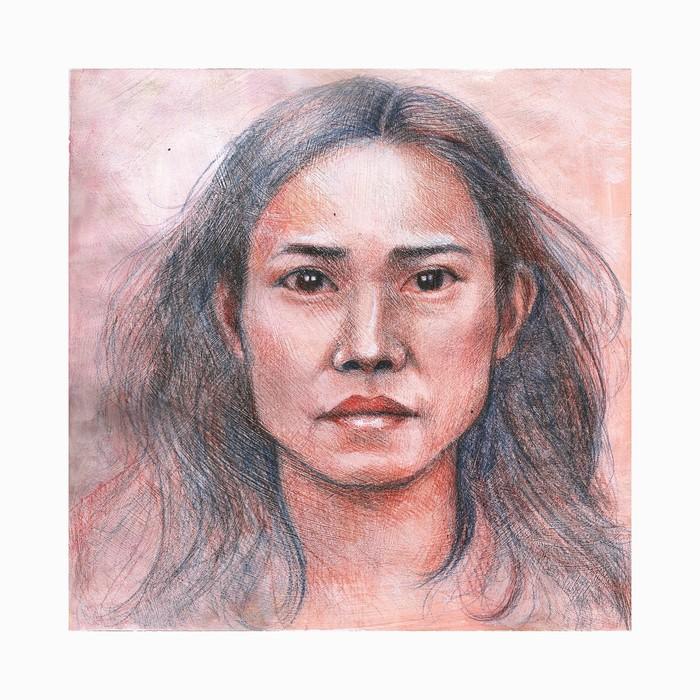 Рисунок Рисунок, Азиатка, Девушки, Скетч, Портрет, Цветные карандаши