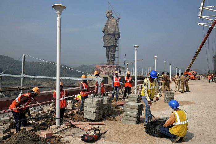 Самая высокая статуя в мире Статуя, Рекорд, Индия, Длиннопост