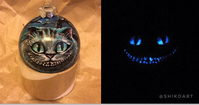 Не бойся темноты Чеширский кот, Новый Год, Рисунок, Творчество, Арт