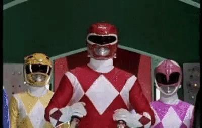 White Power Rangers Reddit, Power Rangers, Гифка