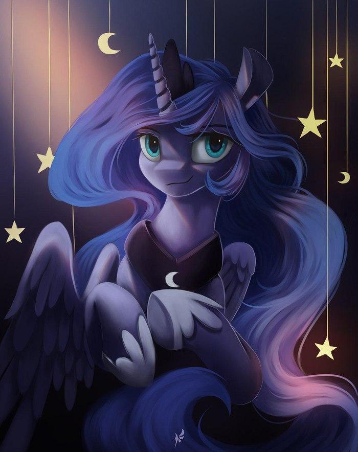 Луна Princess Luna, My Little Pony, Fluttersheeeee