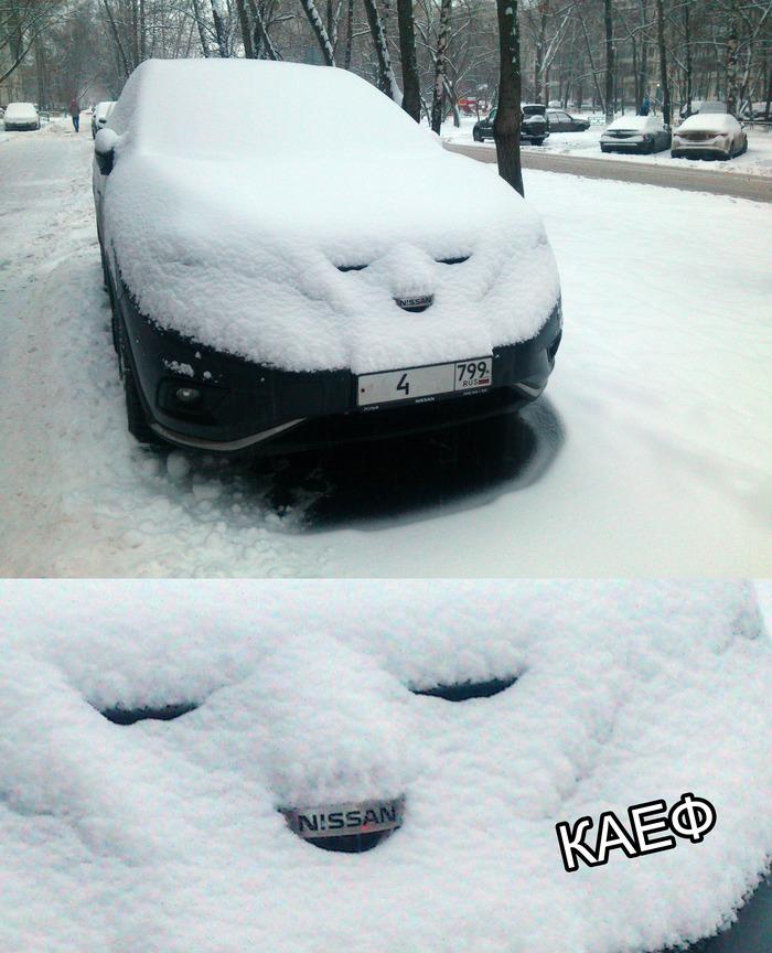 Снегопад это КАЕФ )))
