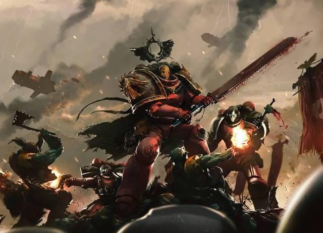 Габриэль Сет -Страж Ярости WH Back, WH Art, Warhammer 40k, Космодесант, Империум человечества, Длиннопост, Арт
