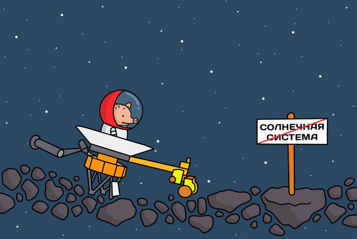 Новость №730: «Вояджер-2» стал вторым рукотворным объектом в истории человечества, который вышел в межзвездное пространство Наука, Образовач, Комиксы, Вояджер, Астрономия, Космос, Поросенок Петр