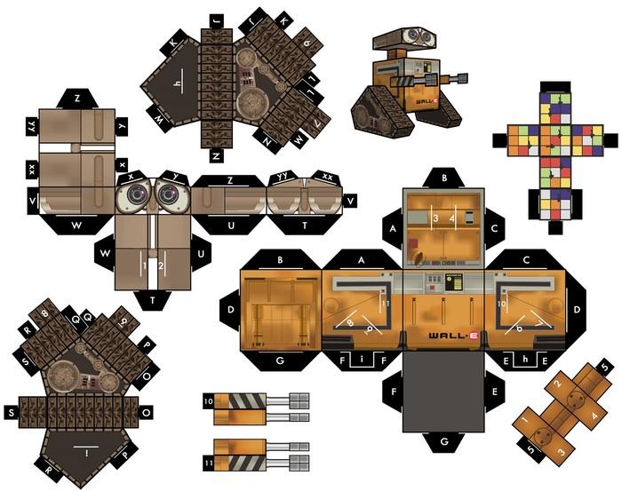 Такой разный PaperCraft Бумажный моделизм, Персонажи, Звери и птицы, Машина, Проигрыватель, Самолет, Схема, Длиннопост, Своими руками