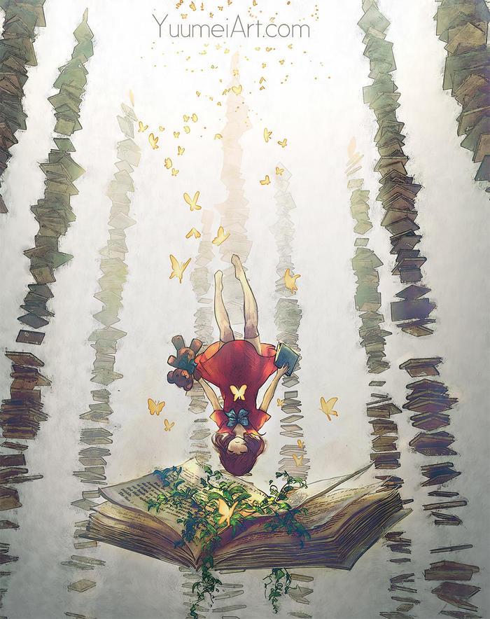 Falling into Dreamland Арт, Yuumei