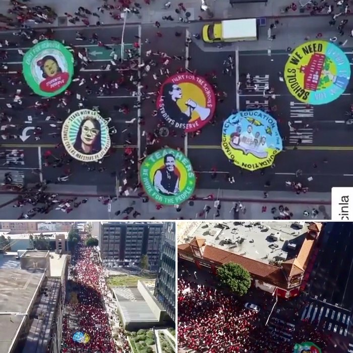 Тысячи учителей Лос-Анджелеса 15 декабря вышли на акцию протеста Протест, Школа, Учитель, США, Политика