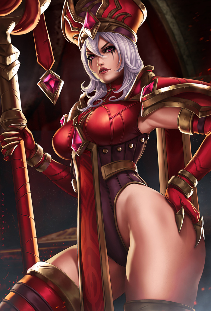 Sally Whitemane Art Арт, Dandonfuga, HOTS, Warcraft, World of Warcraft, Whitemane, Sally Whitemane, Девушки