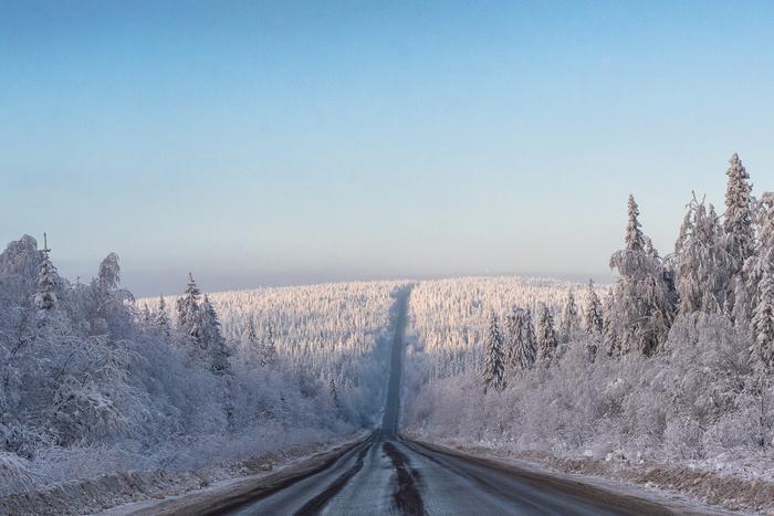 Снежная сказка по дороге Пермского края