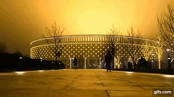 Стадион ФК Краснодар невероятно красиво украсили к новому году
