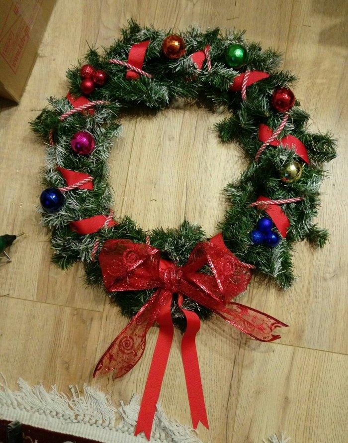Рождественский венок своими руками. Рождество, Новый Год, Своими руками, Украшение, Handmade, Рукоделие, Длиннопост