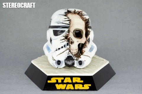 Star Wars Death Trooper 3D печать, Star Wars, Штурмовик, Гифка, Длиннопост