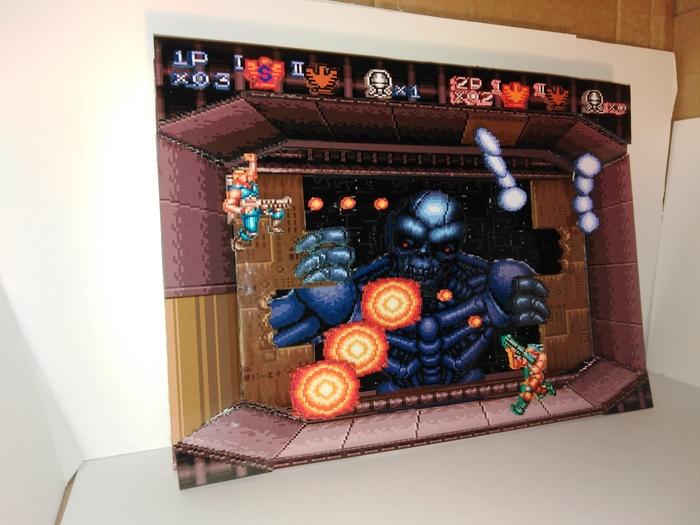 Диорама по игре Contra 3 : The Alien Wars Диорама, Contra, Ретро-Игры, Своими руками, SNES, Компьютерные игры, Длиннопост