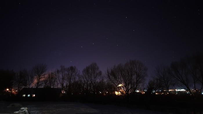 Большая медведица. Мобильная фотография, Звездное небо, Выдержка