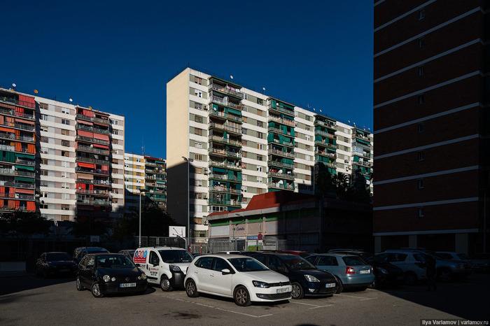 Панельные районы Барселоны Барселона, Испания, Микрорайон, Многоэтажка, Городская среда, Варламов, Длиннопост