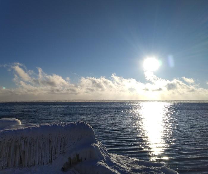 Зимний Байкал Байкал, Листвянка, Сегодня, Зима, Озеро, Горизонт завален, Длиннопост