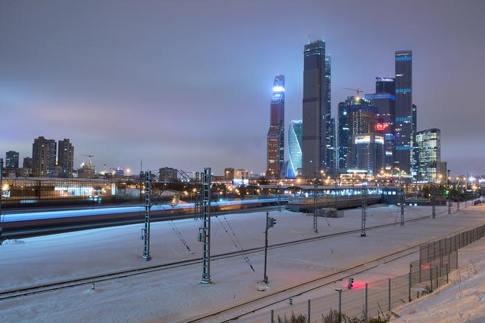 Дело было вечером, делать было нечего. Фотография, Nikon, Москва-Сити, Зима, Городские пейзажи
