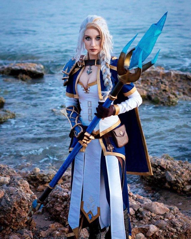 Очередной косплей на дочь морей Косплей, Джайна Праудмур, Wow, Девушки, Дочь Морей, World of Warcraft, Illisia Cosplay, Blizzard