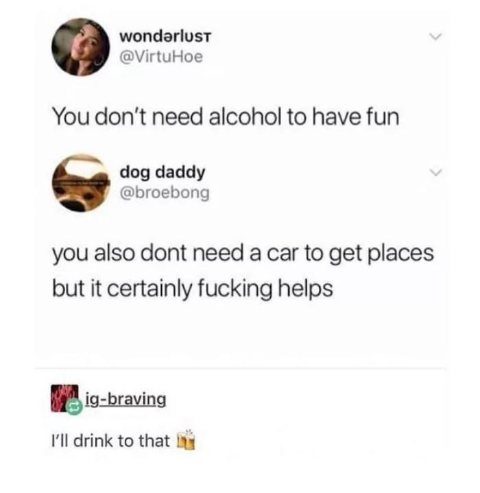 Тебе не нужен алкоголь, чтобы веселиться Алкоголизм, Проблема, Лига алкоголиков, Перевод, 9GAG, Скриншот
