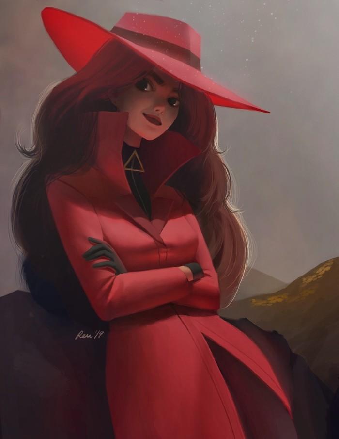 Кармен. Кармен, Горы, Девушки, Лошадь, Арт, Digital, Carmen Sandiego, Renee Chio