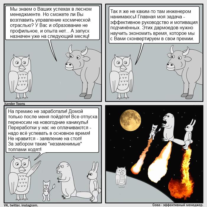 Космическая эффективность Комиксы, Сова, Мотивация, Фанфики об эффективной сове
