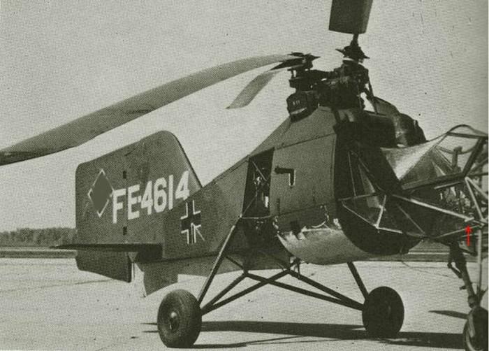 Fl.282 Kolibri «Колибри»— лёгкий немецкий вертолет Люфтваффе, Длиннопост, Авиация, Вертолёт, Вторая мировая война