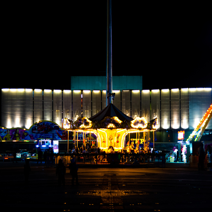 Когда-то это называли луна-парк. Краснодар, Карусель, Ночь, Драмтеатр, Город, Фотография