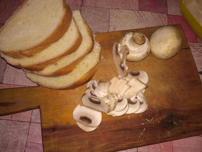 Бутерброды с сырыми шампиньонами Бутерброд, Рецепт, Готовим дома, Длиннопост