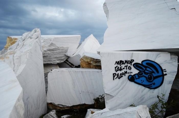 Байкал. Мраморный карьер в Бугульдейке. Иркутская область, Мрамор, Длиннопост, Карьер