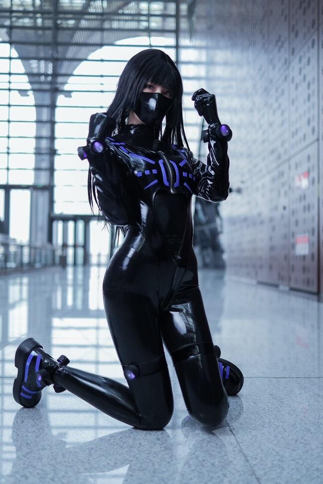 Gantz Косплей, Аниме, Gantz, Красивая девушка, Латекс, Длиннопост