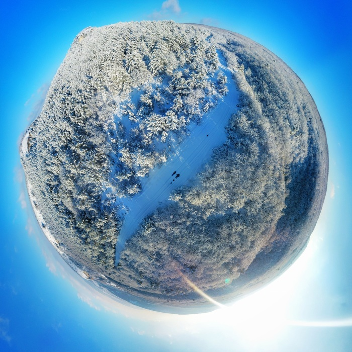 Little planet Панорама, Фотография, Россия, Квадрокоптер, Длиннопост