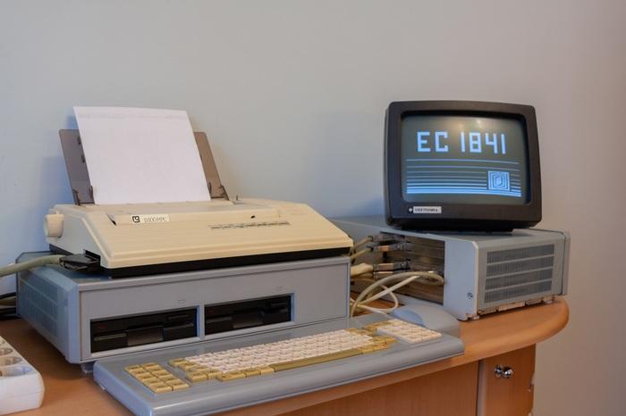 ПП ЭВМ ЕС 1841 Компьютер, Ретротехника, Ретро, СССР, Dos, Программирование, Компьютерные игры, Видео, Длиннопост