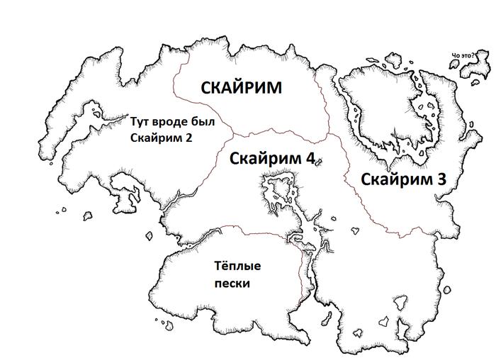 Карта Тамриэля глазами ньюфага
