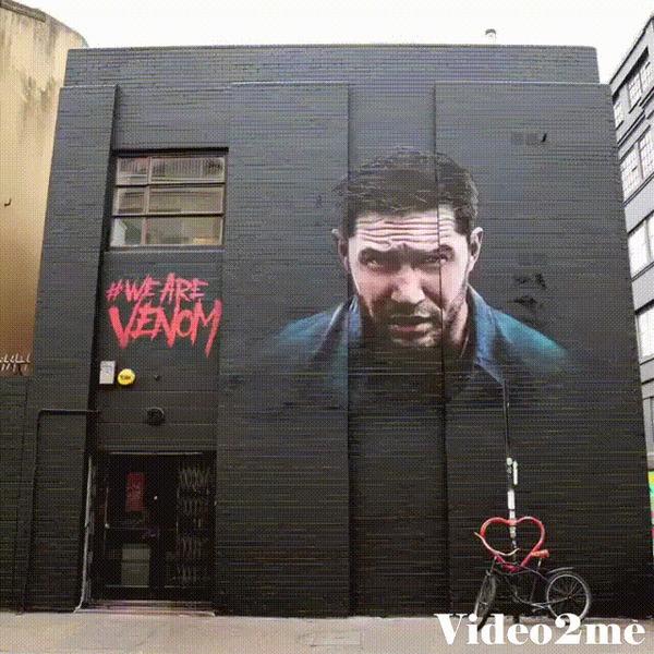 16 граффити превращают Тома Харди в Venom