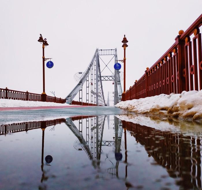 Пешеходный мост Мобильная фотография, Начинающий фотограф, Мост