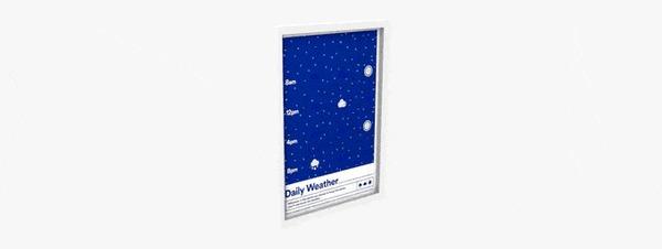 Poster: умный постер, умеющий предсказывать погоду Kickstarter, Indiegogo, Гаджеты, Круто, Прогноз погоды, Умный дом, Гифка