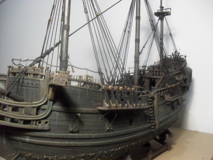 """Как строилась модель """"Черная жемчужина (в тайнике Дейви Джонса)"""". Часть 4 Черная жемчужина, Пираты карибского моря, Ручная работа, Модели из дерева, Стендовый моделизм, Длиннопост"""