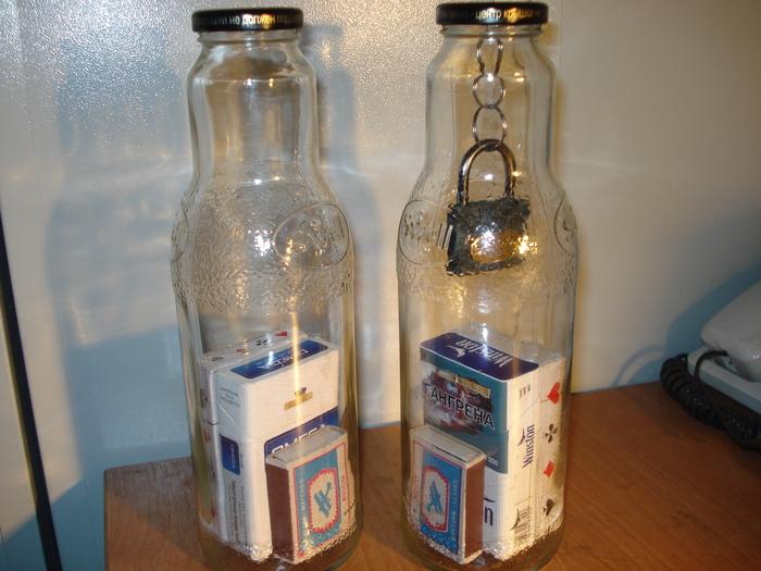 Невозможные бутылки Фокус, Бутылка