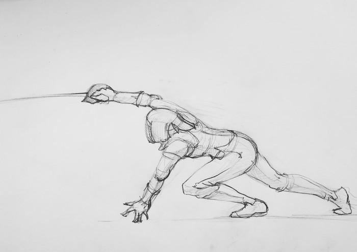 Military saber fencing.
