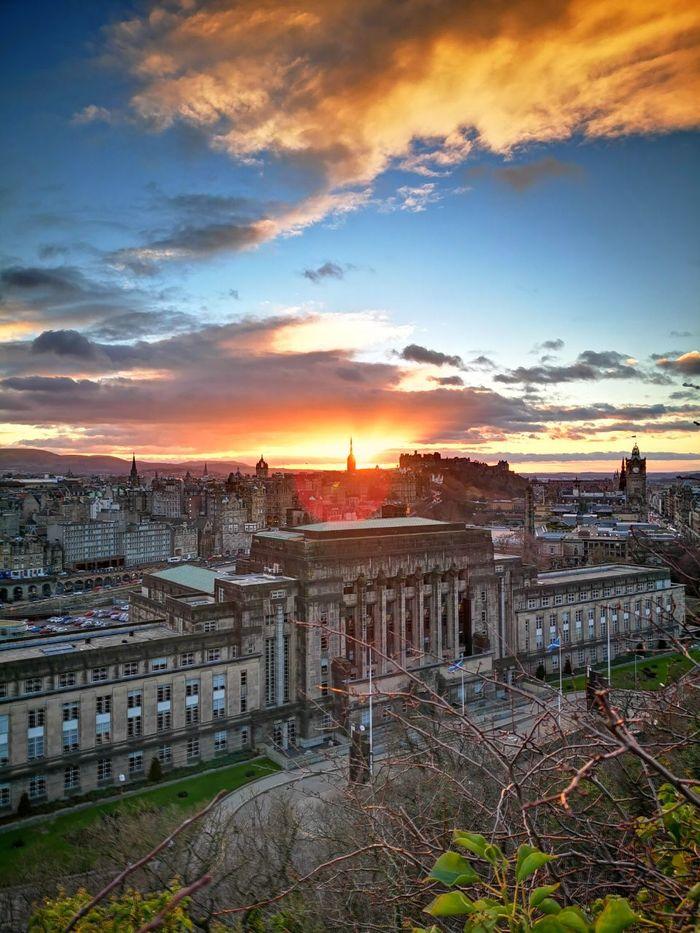 Закат в Эдинбурге