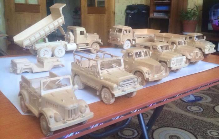 Монгольский умелец делает удивительные модели советских автомобилей из дерева Монголия, Моделизм, Интересное, Авто, Длиннопост